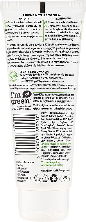 Creme-Serum für trockene Fusshaut mit Lavendel - Lirene Natura Eco Organic Lavender — Bild N2