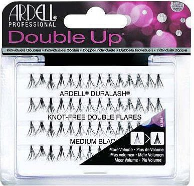 Wimpernbüschel-Set - Ardell Double Up Duralash Knot-Free Double Flares Medium Black — Bild N1