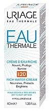 Reichhaltige Wassercreme für trockene bis sehr trockene Haut SPF 20 - Uriage Eau Thermale Rich Cream SPF20 — Bild N2