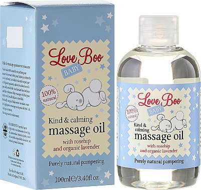 Beruhigendes Massageöl für Kinder mit Hagebutte und Bio Lavendel - Love Boo Baby Kind & Calming Massage Oil — Bild N1