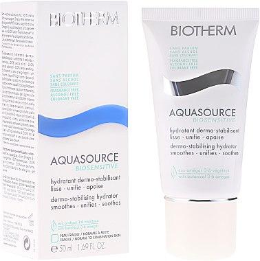 Feuchtigkeitsspendende Gesichtscreme für normale und gemischte Haut - Biotherm Aquasource Biosensitive 50ml — Bild N1