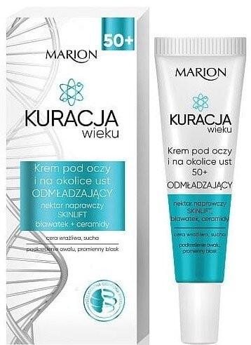 Verjüngende Augenkontur- und Lippencreme mit Kornblume und Ceramiden - Marion Age Eye Cream