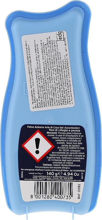 Raumduft-Gel Kirschblüten und Pfingstrose - Felce Azzurra Gel Air Freshener Sweet Harmony Talc & Cherry — Bild N2