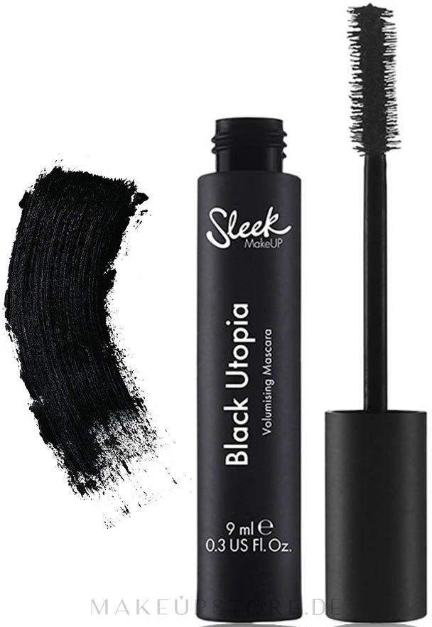 Wimperntusche für mehr Volumen - Sleek MakeUP Black Utopia Volumising Mascara — Bild Black