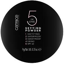 Düfte, Parfümerie und Kosmetik 5in1 Farbloses Puder mit LSF 20 - Catrice 5 in 1 Setting Powder