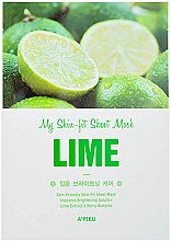Düfte, Parfümerie und Kosmetik Aufhellende Tuchmaske mit Limettenextrakt - A'pieu My Skin-Fit Sheet Mask Lime