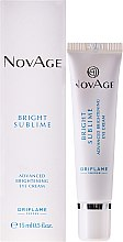 Düfte, Parfümerie und Kosmetik Aufhellende Augencreme - Oriflame NovAge Bright Sublime