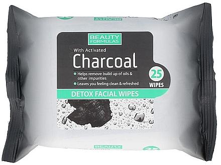 Erfrischende Detox-Gesichtstücher mit Aktivkohle - Beauty Formulas Charcoal Detox Facical Wipes — Bild N1