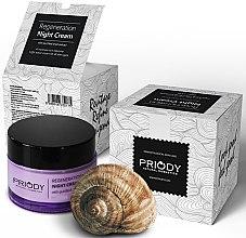 Düfte, Parfümerie und Kosmetik Regenerierende Nachtcreme mit gefiltertem Schneckenextrakt - Priody Night Cream with Snail Extract