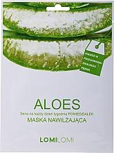 Düfte, Parfümerie und Kosmetik Feuchtigkeitsspendende Gesichtsmaske mit Aloe Vera - LomiLomi Mask Aloe