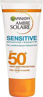 Sonnenschutzcreme für das Gesicht - Garnier Ambre Solaire Sensitive Advanced Face Cream SPF50 — Bild N1
