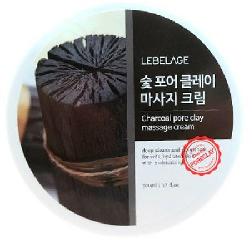 Massagecreme für das Gesicht mit Aktivkohle - Lebelage Charcoal Pore Clay Massage Cream — Bild N1