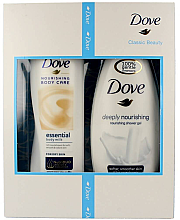 Düfte, Parfümerie und Kosmetik Dove Classic Beauty - Körperpflegeset (Duschgel/250ml + Körperlotion/250ml)
