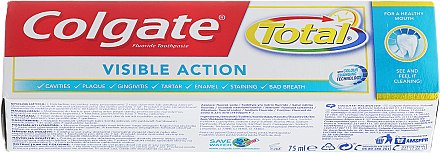 Zahnpasta Total Visible Action - Colgate Total Visible Action Toothpaste — Bild N1