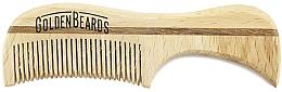 Düfte, Parfümerie und Kosmetik Schnurrbartkamm aus Öko-Holz 7,5 cm - Golden Beards Eco Moustache Comb