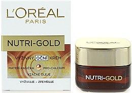 Düfte, Parfümerie und Kosmetik Pflegende Augencreme - L'Oreal Paris Nutri-Gold Pro-Calcium Eye Cream