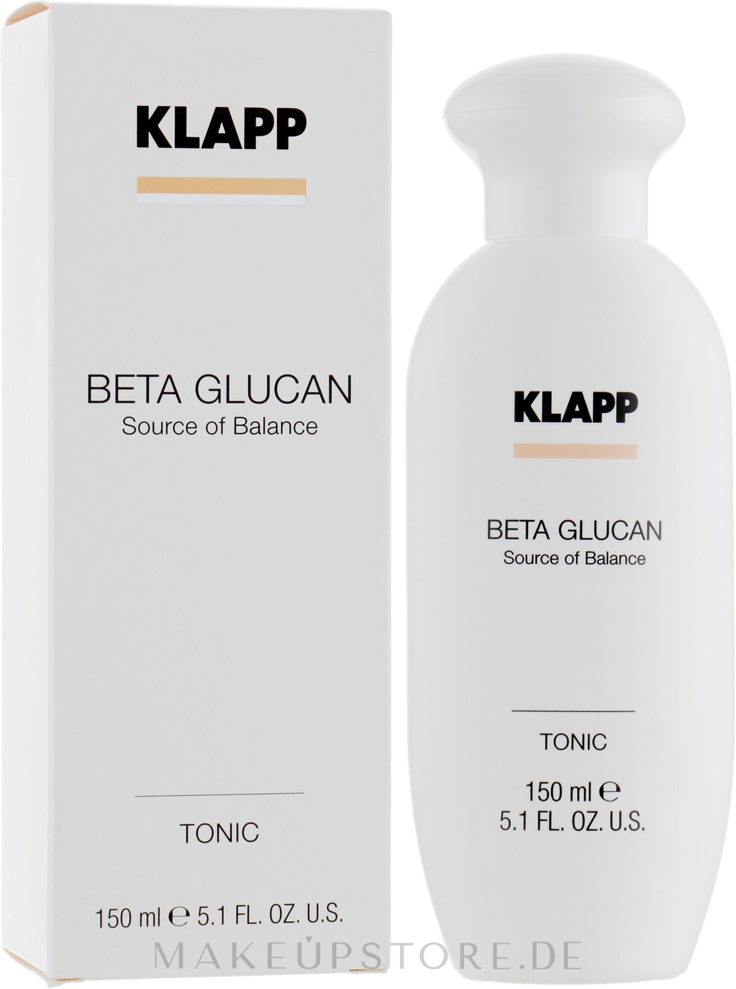 Sanftes Gesichtswasser mit Beta-Glucan und Aloe Vera-Extrakt - Klapp Beta Glucan Tonic — Bild 150 ml