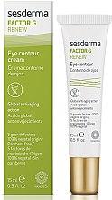 Düfte, Parfümerie und Kosmetik Anti-Aging Creme für die Augenpartie - SesDerma Laboratories Factor G Renew Eye Contour