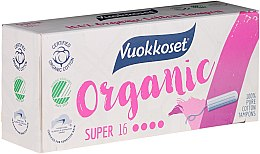 Düfte, Parfümerie und Kosmetik Bio Tampons ohne Applikator Super 16 St. - Vuokkoset Organic Super Tampons