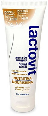 Pflegende Handcreme mit Vitaminen und Michproteinen - Lactovit Original Hand Cream — Bild N1
