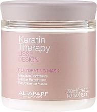 Düfte, Parfümerie und Kosmetik Feuchtigkeitsspendende Haarmaske mit Keratin - Alfaparf Lisse Design Keratin Therapy Rehydrating Mask