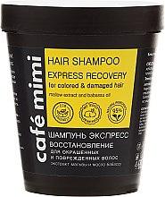 """Düfte, Parfümerie und Kosmetik Shampoo """"Express Recovery"""" für gefärbtes und geschädigtes Haar - Cafe Mimi Shampoo"""