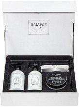 Düfte, Parfümerie und Kosmetik Haarpflegeset - Balmain Silver Revitalizing Care Set (Haarmaske 200ml + Conditioner 300ml + Shampoo 300ml + Kamm)