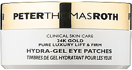 Düfte, Parfümerie und Kosmetik Anti-Aging Hydrogel-Augenpatches - Peter Thomas Roth 24k Gold Pure Luxury Lift & Firm Hydra-Gel Eye Patches