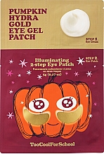 Düfte, Parfümerie und Kosmetik 2-stufige Hydrogel-Augenpatches mit Kürbisextrakt und kolloidalem Gold - Too Cool For School Pumpkin Hydra Gold Eye Gel Patch