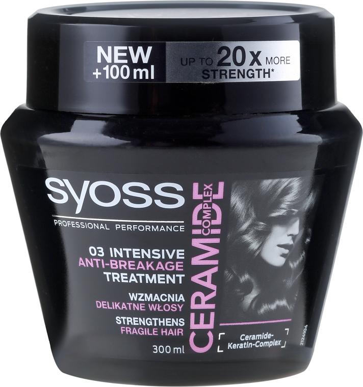 Haarmaske - Syoss Ceramide Complex Intensive Anti-Breakage Treatment — Bild N1