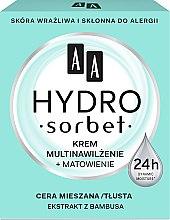 Düfte, Parfümerie und Kosmetik Mattierende und feuchtigkeitsspendende Gesichtscreme - AA Cosmetics Hydro Sorbet Moisturising & Mattifying Cream