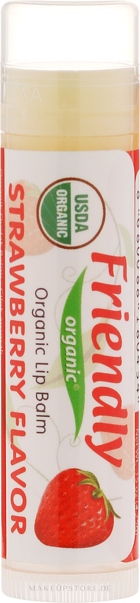 "Bio-Lippenbalsam ""Erdbeere"" - Friendly Organic Lip Balm Strawberry — Bild 4.25 g"