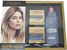 Düfte, Parfümerie und Kosmetik Gesichtspflegeset - L'Oreal Paris Nutri Gold (Gesichtscreme 50 ml + Gesichtscreme 50 ml + Mizellenwasser 400 ml)