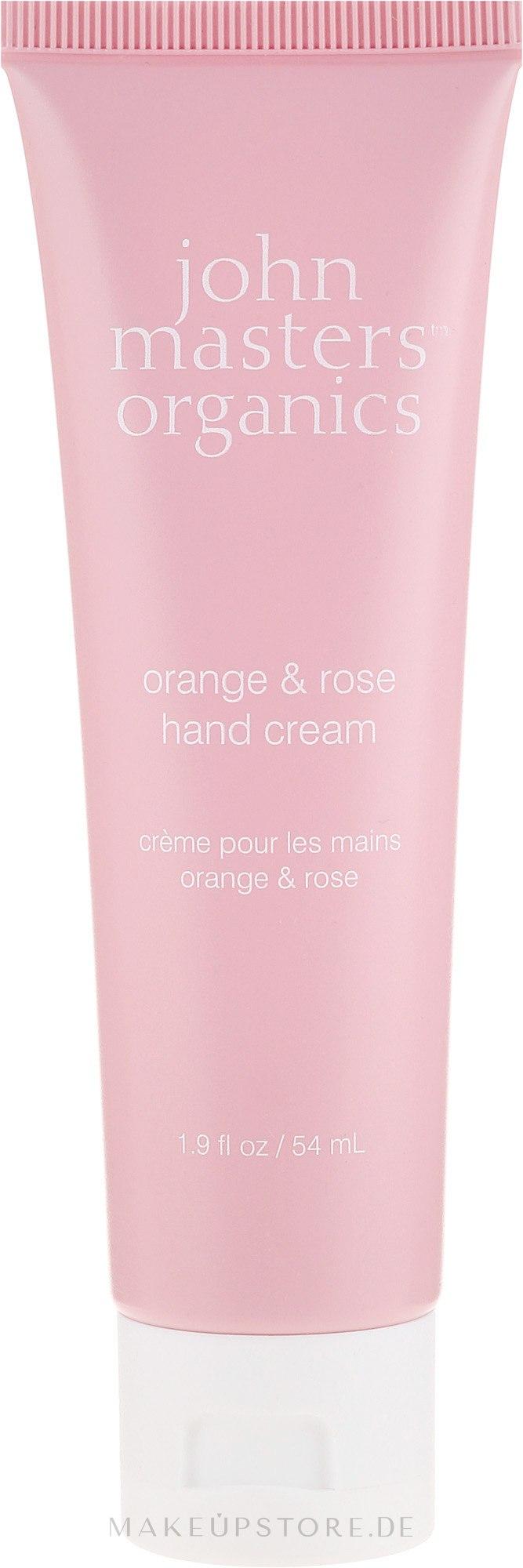 Handcreme mit Orange und Rose - John Masters Organics Orange & Rose Hand Cream — Bild 54 ml
