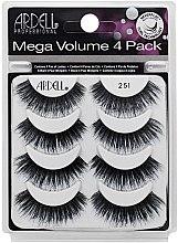 Düfte, Parfümerie und Kosmetik Set Künstliche Wimpern 8 St. - Ardell Mega Volume 4 Pack 251 Lashes