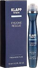 Beruhigendes Fluid gegen Augenfalten und Tränensäcke mit Hyaluronsäure und Euphrasia - Klapp Men Eyezone Rescue Freshness Fluid — Bild N1