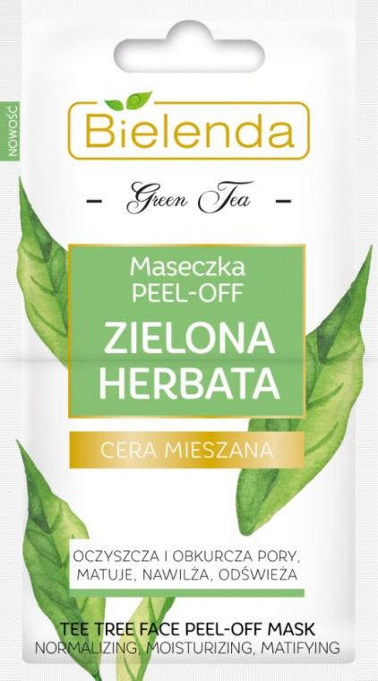 Peel-Off Gesichtsmaske für gemischte Haut mit grünem Tee - Bielenda Green Tea Peel-Off Face Mask — Bild N1