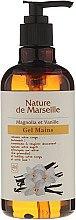 Düfte, Parfümerie und Kosmetik Pflegendes Handwaschgel mit Magnolien- und Vanilleduft - Nature de Marseille Magnolia&Vanilla Gel