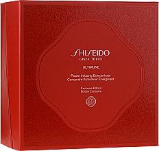 Düfte, Parfümerie und Kosmetik Gesichtspflegeset - Shiseido Ultimune (Gesichtskonzentrat 50ml + Gesichtsschaum 15ml + Aufweichende Gesichtslotion 30ml + Augenkonzentrat 3ml)