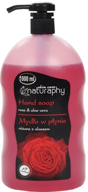 Flüssige Handseife mit Rose und Aloe Vera - Bluxcosmetics Naturaphy Hand Soap