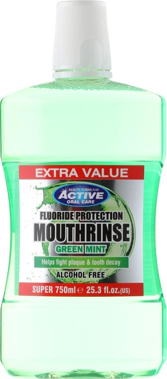 Mundwasser - Beauty Formulas Active Oral Care Mouthrinse Green Mint — Bild N1