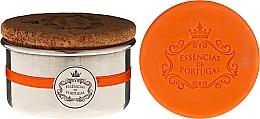 Düfte, Parfümerie und Kosmetik Naturseifen Orange in Schmuck-Box - Essencias de Portugal Aluminium Jewel Keeper Orange Soap