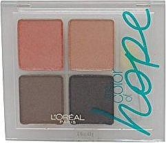 Düfte, Parfümerie und Kosmetik Lidschatten - L'Oreal Paris Wear Infinite Color of Hope Eyeshadow Quad