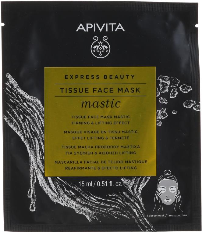 Straffende Lifting-Tuchmaske mit Mastix - Apivita Express Beauty Tissue Face Mask Mastic Firming & Lifting Effect — Bild N1