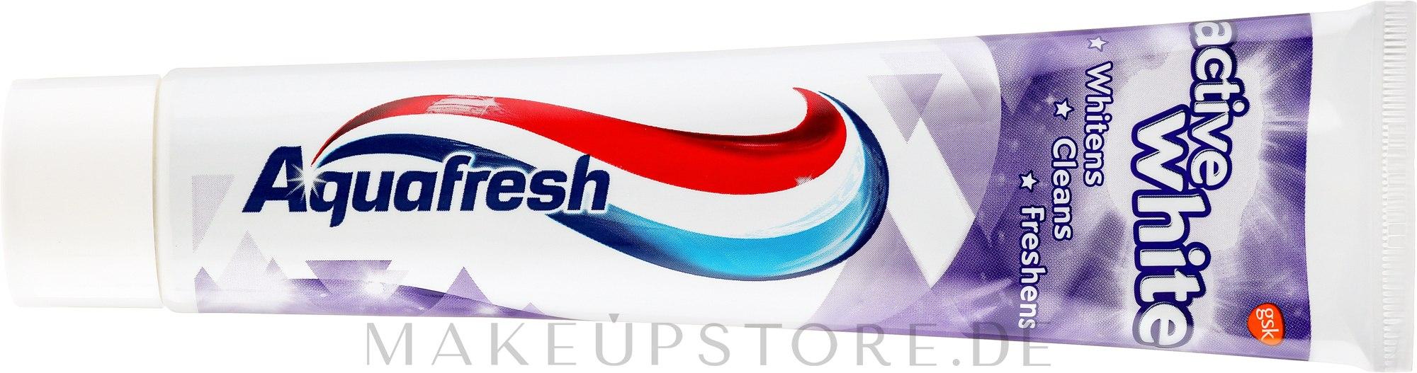 Aufhellende Zahnpasta Active White - Aquafresh Active White Toothpaste — Bild 125 ml