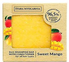 Düfte, Parfümerie und Kosmetik 2in1 Festes Shampoo und Haarspülung mit süßem Mangoduft - Stara Mydlarnia Sweet Mango 2in1 Shampoo Bar