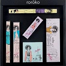 Düfte, Parfümerie und Kosmetik Make-up Set (Augenbrauenstift 0.4g + Lidschatten 8g + Eyeliner 0.8g + Rouge 6g + Mascara 8g + Lippenstift 3.5g) - Roroko Natural Nude Make-up Box