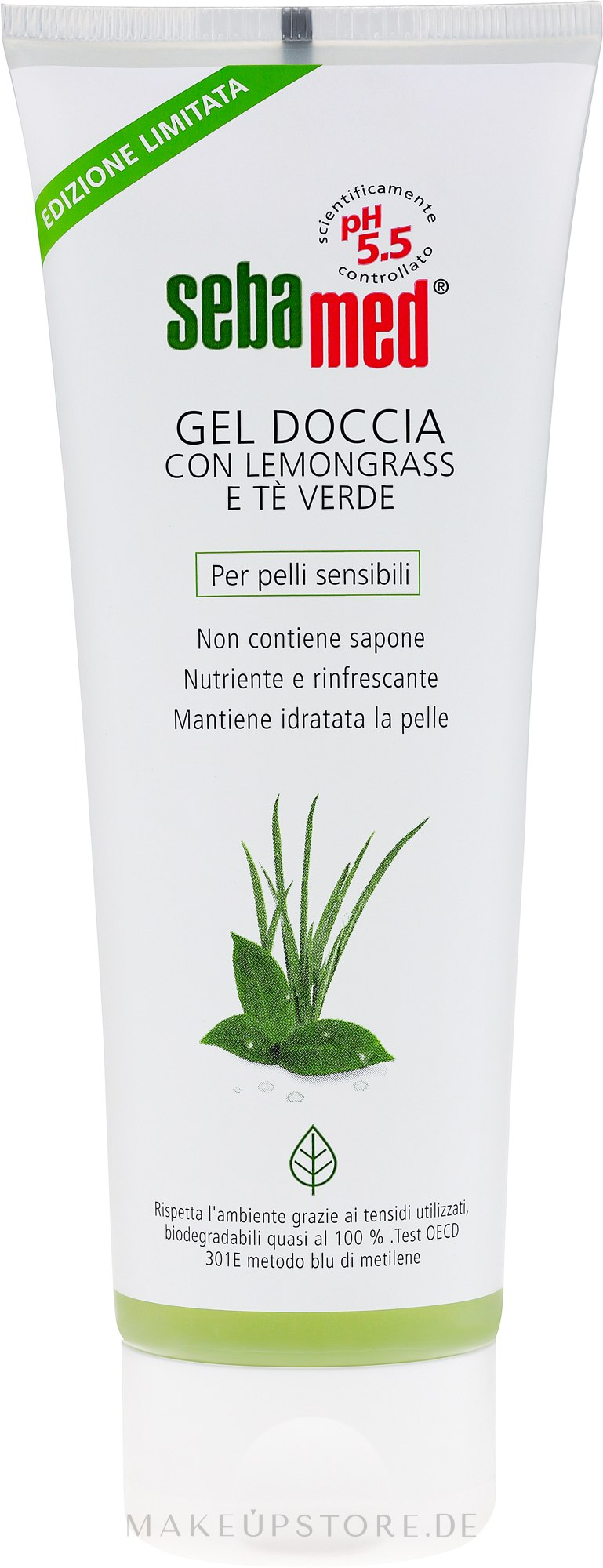 Duschgel - Sebamed Shower Gel With Lemon Grass & Green Tea — Bild 250 ml