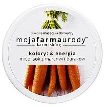 Düfte, Parfümerie und Kosmetik Gesichtsmaske mit Honig, Karotten- & Zuckerrübensaft - Moja Farma Urody