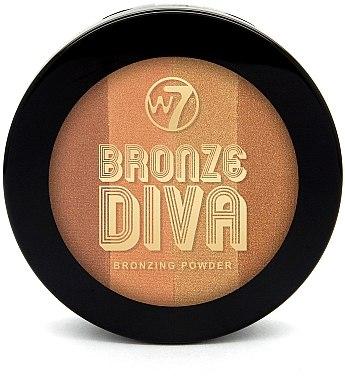 Bronzing Gesichtspuder - W7 Bronze Diva Bronzing Compact Powder — Bild N1